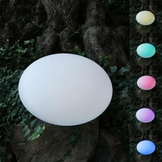 Solar-LED-Gartenleuchte Kiesel 35x23cm Stein Gartenlampe Gartendeko Farbwechsler