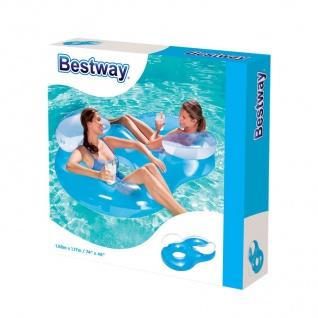 Bestway Luftmatratze Lounge Schwimmsessel Wasserliege Badeinsel Schwimmliege - Vorschau 3