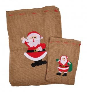 Geschenkesack 2er-Set Jutesack Nikolaussack Geschenkebeutel Geschenkverpackung - Vorschau 4
