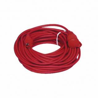Verlängerungskabel rot 25m Leitungstyp: H05VV-F 3G 1, 5