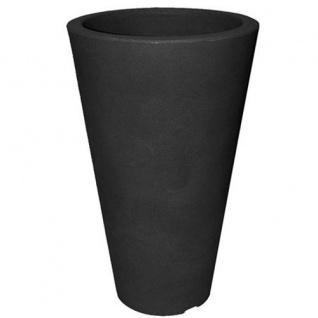 CAPRI Pflanztopf rund D 27, 5 cm H 44 cm Kunststoff Blumenkübel Deko - Element