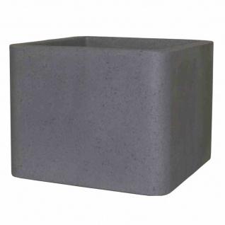 Cube 40cm zementgrau Pflanzgefäß Pflanzkasten Blumentopf Balkon Terrasse TOP NEU