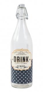 Retro Drahtbügelflasche 1L Bügelverschluss Wasserflasche Trinkflasche Flasche