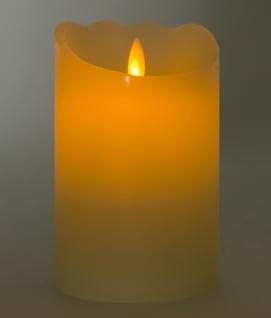 LED-Wachskerze tanzende Flamme 12, 5x8cm mit Timer Stumpe Dekokerze Adventskerze