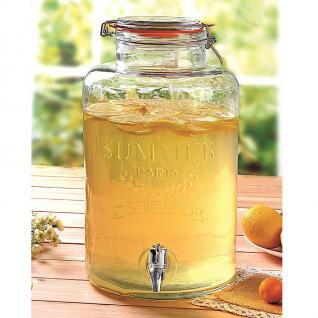 Getränkespender aus Glas 8L Wasserspender Getränke-Portionierer Saftspender