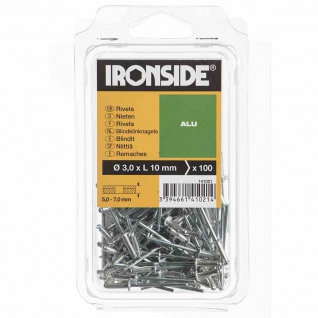 Blindnieten 3, 0/10 mm Aluminium, Verpackungsinhalt: 100 Stück