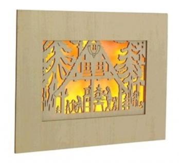 LED beleuchtetes Wandbild aus Holz Weihnachtsdeko Wanddeko Wandaufhänger Bild