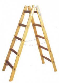 HOLZ Holz-Doppelsprossen-Stehleiter 122260 Doppelspr.-leiter 2x6 Sp