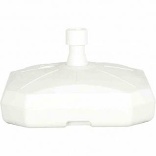 Schirmständer 50 Liter, befüllbar, mit Rolle, weiß Polyethylen-HD, für Schirmstöcke 35-55 mm