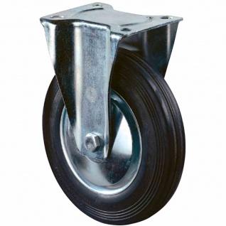 Bockrolle Gummi 200mm 138x109mm 205kg Tragkraft Rollen Rolle Lenkrollen Rad TOP