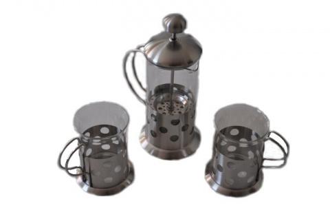 Kaffee Teezubereiter 3teiliges Set Teekanne Kaffekanne Kaffeetasse Teetasse neu