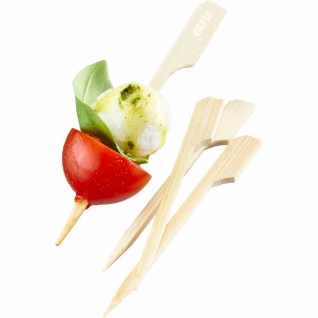Holzspieße 160Stk Bambus Spieße Servieren Snacks Fingerfood Kochen Party Küche