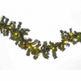 LED Tannengirlande 2, 7m mit 40 LEDs Lichterkette Weihnachtsgirlande Girlande