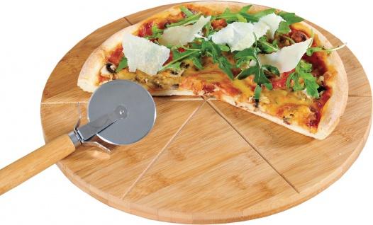 KESPER FSC Pizza-Teller mit Pizza-Schneider 58462 Pizzateller 32 Cm