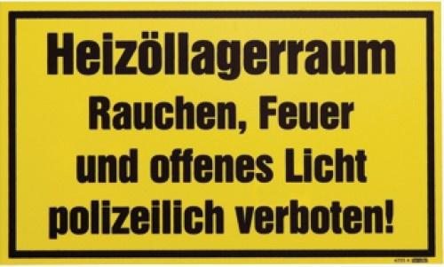 SCHILD Einzelschild Heizoel Lagerraum -a4255