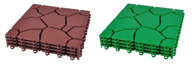 Bodenplatten 4er-Set Beetplatten Gehwegplatten Rasenplatten Gartenweg Platten