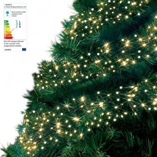 LED Cluster-Lichterkette 10, 5m Büschellichterkette Weihnachtsbeleuchtung Balkon