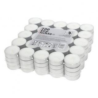 Teelichter 100 Stück Teelicht 4h Brenndauer Kerze Tischkerze Weihnachten 3, 9cm