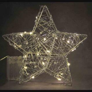 LED Drahtstern mit Perlen 29937 Stern Draht 25cm M - Vorschau