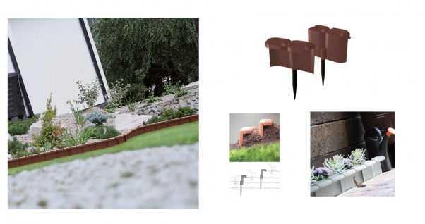 Beetumrandung Schneckenzaun braun 1, 9m Palisade Beeteinfassung Rasenkante Zaun