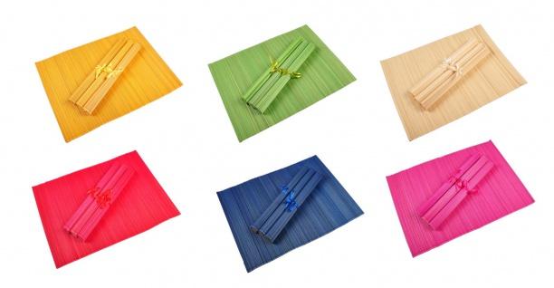 Bambus Platzset 4er Platzdeckchen Tischmatten Platzmatte Untersetzer Tischdecke