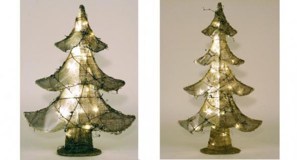 Jute-Weihnachtsbaum versch. größen mit LED´s
