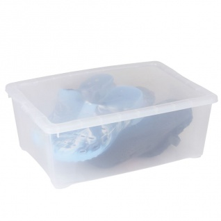 Klarsichtbox Aufbewahrungsbox Allzweckbox Spielzeugkiste Stapelbox 38x26x14cm