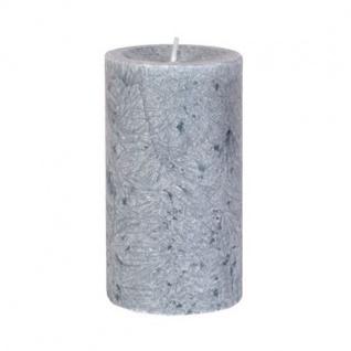 Diamond Candles Stumpenkerze dunkelgrau 12x7cm Wachskerze Tischdeko Stumpe Kerze