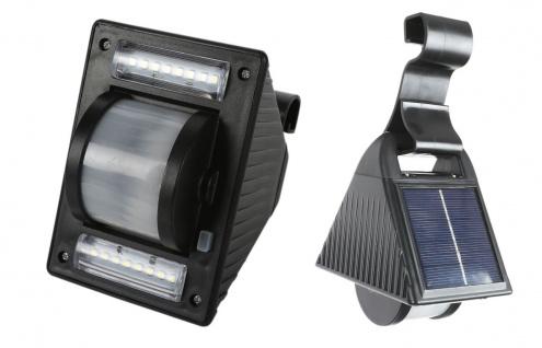Solar LED Dachrinnenleuchte Gartenleuchte Solarlampe Zaunleuchte Aussenleuchte
