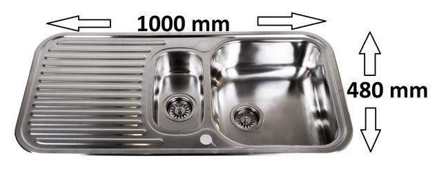 ROYALCERT Sylt Einbauspüle Edelstahlspüle Spülbecken Küchenspüle Spüle