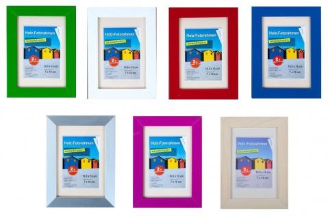 2er Pack Holz-Fotorahmen 10, 5x15cm, versch.Farben