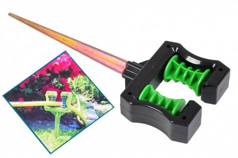 Umlenkrolle für Gartenschlauch mit 2 Rollen und Erdspieß Wasserschlauchhalter