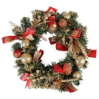 Weihnachtskranz 40cm dekoriert Dekokranz Weihnachtsdeko Wanddeko Türdeko Kranz