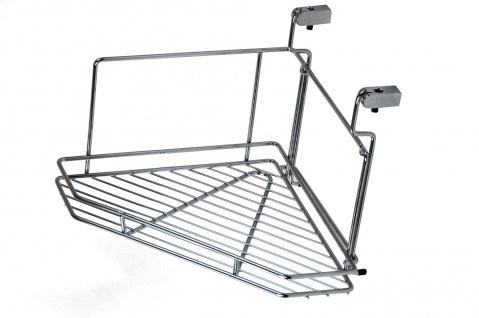 Wesco Relingsystem Eckregal Küchenreling Eckablage Chrom Gewürzbord Gewürzregal