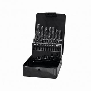 HSS-Bohrer-Satz 19-teilig in Metall-Box, geeignet für Metall, Größen: 1 - 10 mm