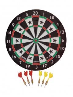 Dartscheibe mit 6 Pfeile Dartspiel Dartboard Dartpfeile Wurfpfeile Dartboard