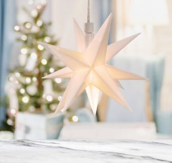 Weihnachts-LED-Stern in 3D zum Hängen 12cm Leuchtstern Weihnachtsstern Deko