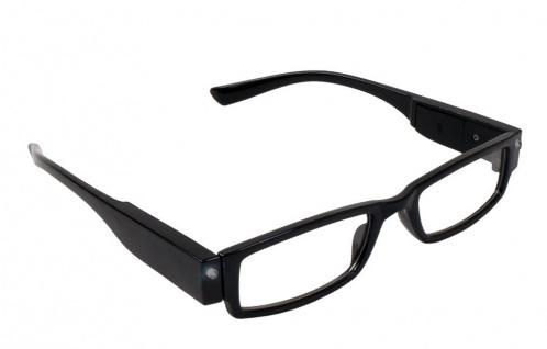 Lesebrille +3, 5 dpt schwarz Lesehilfe Sehhilfe Lesebrillen LED Brille B-Ware