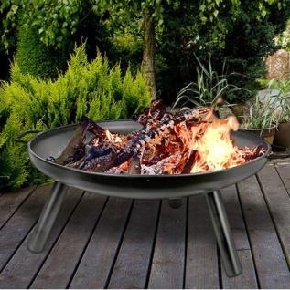 Feuerschale 59cm Gartenfeuer Feuerstelle Feuerkorb Grillschale Pflanzschale