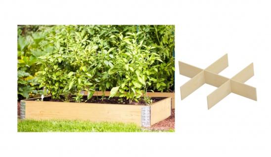 Hochbeet-Rahmen 120x80cm mit 6-fach Teiler Palettenrahmen Frühbeet Pflanzbeet
