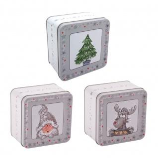 Weihnachts-Metalldose Plätzchendose Gebäckdose Keksdose Vorratsdose Dekodose
