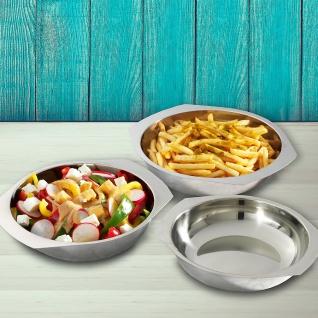 Edelstahl Servierschalen 3er-Set Schüsselsatz Salatschüssel Snackschale Schüssel