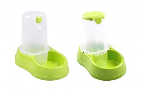 Haustier Wasserspender und Futterspender Set automatisch Wassernapf Fressnapf