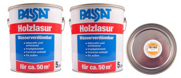Passat Holzlasur 10 Liter Kiefer Holzschutz schnelltrocknend Holzfarbe außen
