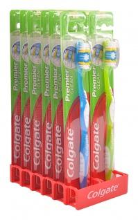 Colgate Premier clean medium 12er Display Zahnbürsten Zahnbürste Zungenreiniger