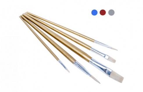 Pinselset 5-tlg. flach Flachpinsel Künstlerpinsel Malpinsel Malerpinsel Pinsel