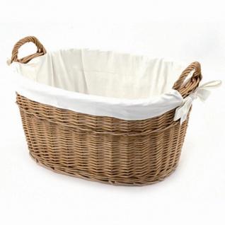 Wäschekorb groß, Weide 55 x 44 x 30 cm