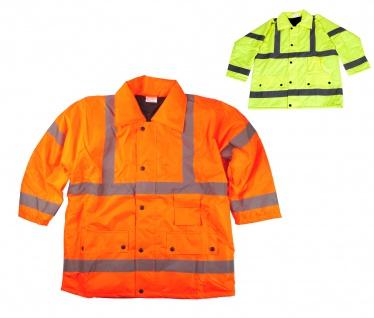 Sicherheitsjacke Warnschutzjacke L XL XXL Warnschutz Arbeitsjacke Signaljacke