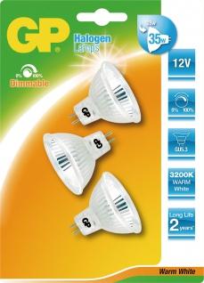 """GP Halogen Multipack ,, Reflector"""" 63483 3er Gu5.3 28w"""