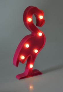 LED Flamingo 30cm pink Partydeko Wanddeko Dekofigur Vogel Dekolicht warmweiß - Vorschau 2